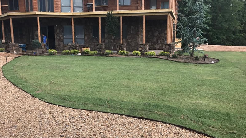 Photo Of Front Yard After New Sod Installation
